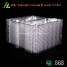 2 compartment hinged clear muffin packaging box