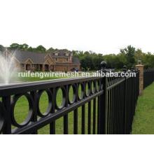 Bester Preis Schwarz Polyester Farbe Ornamental Stahlzaun