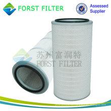Cartucho de filtro de aire plisado industrial FORST Hot Sell