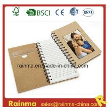 Cuaderno espiral de papel Eco con cubierta de marco fotográfico