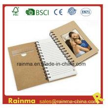 Eco Papier Spirale Notizbuch mit Foto Rahmen Abdeckung