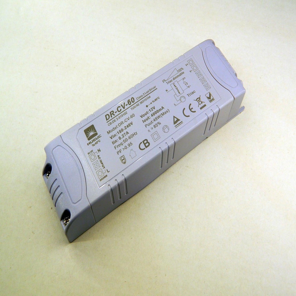 60W 12V LED Drivers with 5 Years Design 91% Efficiency