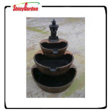 compound three layers wooden fountain