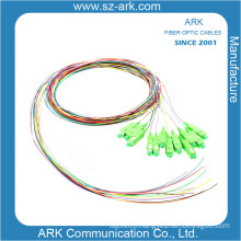 12 Colored Fiber Opical Pigtail with Sc/APC Connector