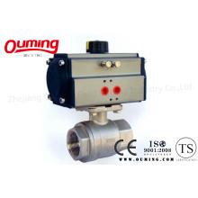 2PC резьбовой пневматический управляющий шаровой кран с ISO 9001