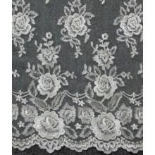 Elfenbein-Hochzeits-Spitze gestickte Blumen Tulle-Gewebe-Spitze 52 '' No.CA214
