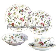 De la taza de té y platillo de cerámica de la porcelana de la porcelana de hueso fina del diseño de la calidad del higt nueva para la venta