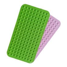 Comfortable non-slip silicone shower foot massage carpet bath mat heat-resistant environmentally friendly bathroom mat