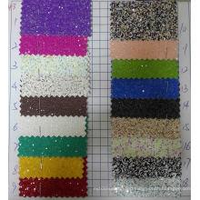Multicolor Chunky Glitter Wallpaper Fabric for Decoration