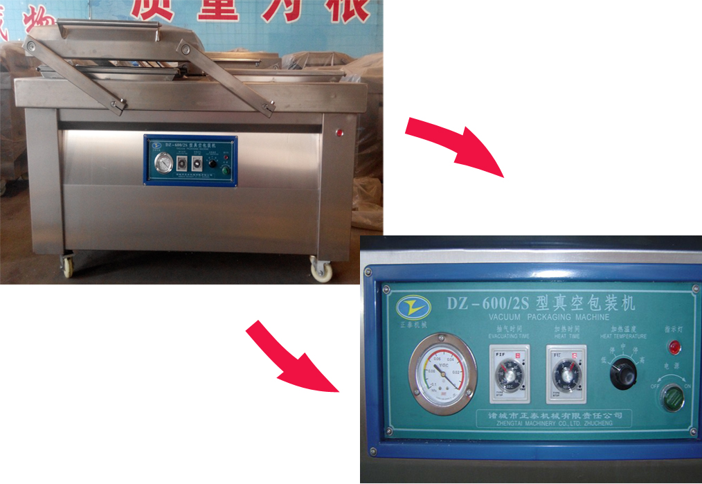 Dried Fruit DZ800/3S Vacuum Packing Machine With Silicone Tube
