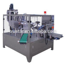 rotary type premade bag packing machine for sauce and liquid