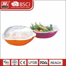 2014 новые пластиковые кухни дуршлаг с крышкой