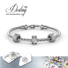 Destino joias cristais de Swarovski Round pulseira