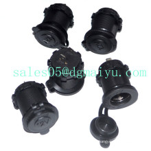 5PCS/Lot 12-24V USB Car Charger Cigarette Lighter Socket with Waterproof Cover