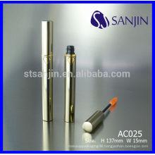 empty aluminum cosmetic tube