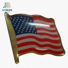 China Presente promocional impressão personalizada EUA bandeira Pin distintivo em Metal artesanato