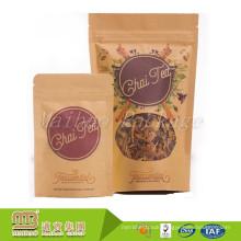 Stand Up Custom Designed Color Printing Tea Leaves Paper Packing Bag