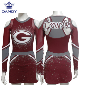 Hot Sale Langarm Cheerleading Uniformen