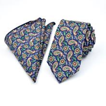 Großhandels dünne Baumwollblumen-Paisley-Druck-Mens-Hemd-und Bindungs-Sätze