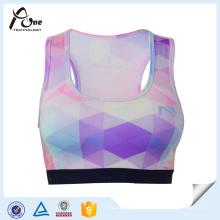 Womens Dry Fit Custom Sublimation motif sportif soutien-gorge