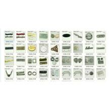 Großverkauf für kundenspezifischen Metallmarken-Logo-Aufkleber in den Taschen-Kleiderschuhen