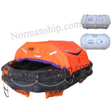 Solas 10 person throwing inflatable liferaft Type A with cheap price CCS/EC/GL/ZY