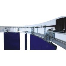 Sistema de puerta curva