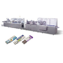 Automatic production line for pharmaceutical packaging