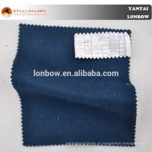 Tecido de casaco de caxemira lã lã azul marinho para temporada de inverno