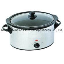 4,5 L (5,10 QT) mijoteuse, acier inoxydable, forme ovale