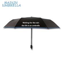 Модные популярные в Китае Черное покрытие Paraguas Солнца Дейзи дизайн внутри дешевые обычай печатать лозунг зонт с принтами логотипа