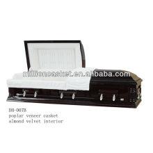 poplar veneer casket funeral product