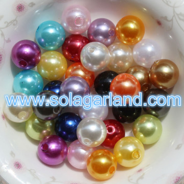4-40MM Acrylic Round Pearl Beads Imitation Faux Pearl Chunky Beads For Jewelry Making