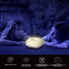 Donuts encantadora LED niños luz nocturna sensor de movimiento atenuador luz LED