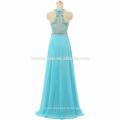 Nouvelle arrivée robes de bal bleu clair couleur une pièce filles partie usure lourde perlée longueur de sol suzhou robe de bal