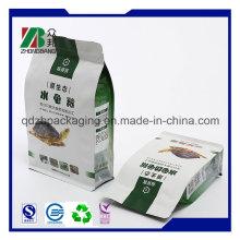 Сумка для упаковки плоского дна высокого качества с 8 боковыми сторонами