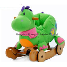 Washable Double Function Wooden Rocking Animal-Dinosaur Rocker with Safeguard