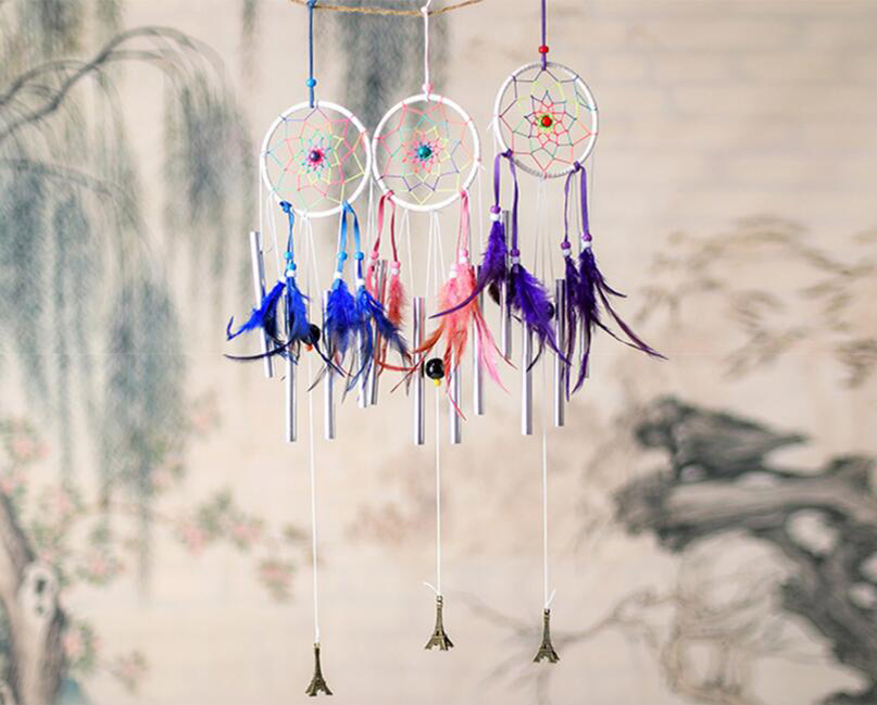 Handmade Dream Dream Feather Mặt dây gió Chime