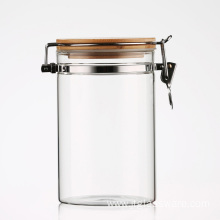 Storage Glass Cannister With Clamp Top Lid