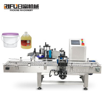 High quality the paint drums Barrels of oil Bottled water Laundry detergent big volume Semi Automatic bucket labeling  machine