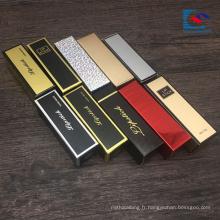 boîtes personnalisées de rouge à lèvres de matchbox de stratification brillante de logo imprimé