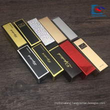 custom logo printed glossy lamination matchbox lipstick boxes