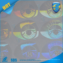 Fabrikpreisverkauf Lasergraviertes kundenspezifisches Hologrammaufkleber Firmenzeichen drucken holographischer Hohlraumaufkleber
