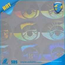 Etiqueta engomada holográfica del vacío de la impresión de la insignia de la etiqueta engomada del hol