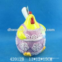 Wholesale cock design ceramic utensil holder for easter