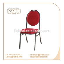 2018 vena de plata marco de metal pila banquete silla comedor
