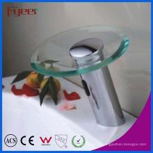 Fyeer Round Glass Spout Baño automático Waterfall Sensor Tap