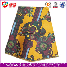 Nuevo diseño 100% poliéster tela impresa cera africana
