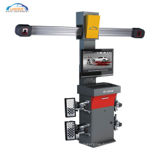 3D car wheel alignment with double screen