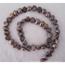 Marrón perla Barroca, perla de agua dulce, perla (BRQ0910BR)